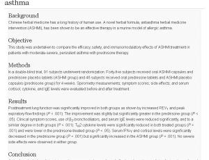 nghiên cứu lâm sàng về tác dụng Nhũ Hương trên bệnh nhân COPD